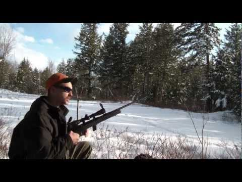 Savage model 64 Semi-auto .22LR sighting in and plinking!