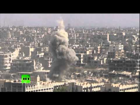 Damascus Battle Field: Drone captures ongoing fight between Assad forces and rebels