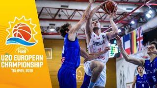 Serbia v Italy - Full Game - FIBA U20 European Championship 2019