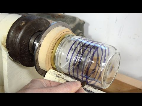 Helical glass cutting attempt