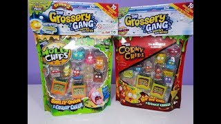 Toy Opening of The Grossery Gang Moldy Chips Pack and Corny Chips.