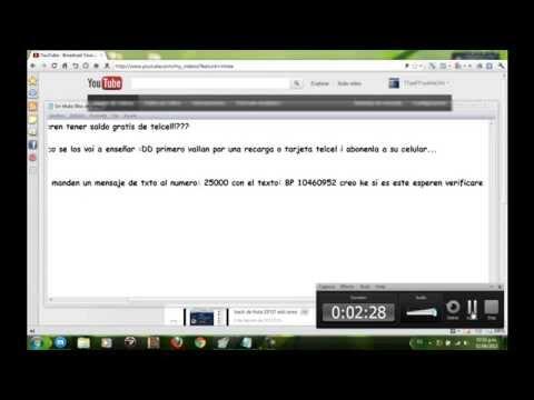truco de saldo gratis RENOVADO 25/04/2014 (solo telcel y movistar)