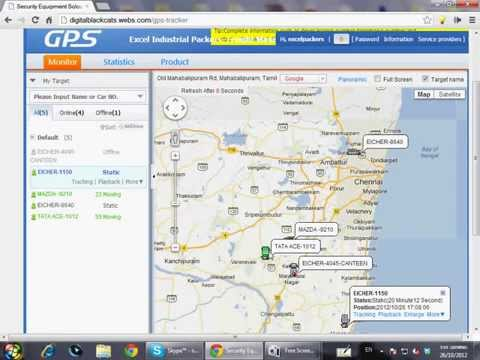 MapMyGPS™ - DEMO Of GPS Tracker In Chennai - GPS Vehicle Tracker In Chennai