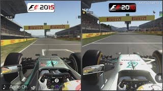 F1 2015 vs F1 2016 - Catalunya Comparison
