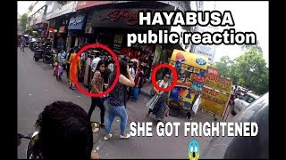 LOUDEST HAYABUSA MARKET GIRLS REACTION | Superbike in delhi