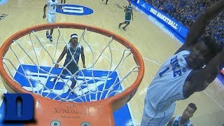 Zion Williamson Alley-Oop Slam Dunk Sends Cameron Into A Frenzy
