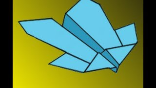 How To Make The Condor Paper Airplane Instructions Video