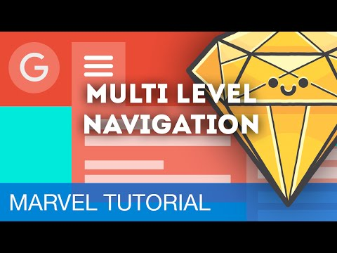 Multi-Level Dropdown Navigation • Prototyping with Marvel (Tutorial)