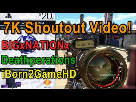 7K Shoutout Video! $20 PSN Card Giveaway! - BIGxNATIONx, Deathperations, and iBorn2GameHD!