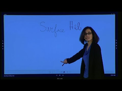 Up close with Microsoft's 84-inch 4K Surface Hub