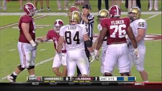 2011 Vanderbilt vs. #2 Alabama Highlights