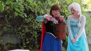 Frozen Queen Elsa and Princess Anna ALS Ice Bucket Challenge