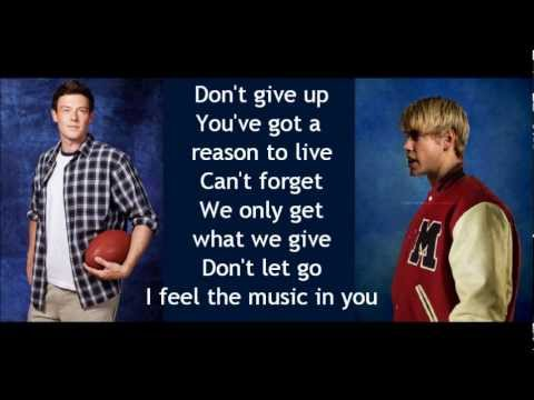 Glee - You Get What You Give (lyrics)