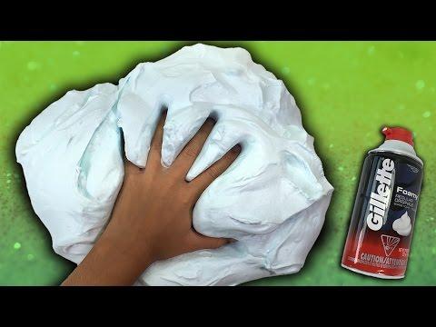 How To Make Fluffy Slime with Shaving Cream NO BORAX thumbnail