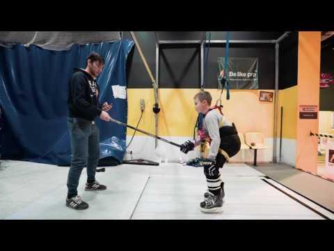 Тренировка на формирование хоккейной посадки и обучение техники отталкивания