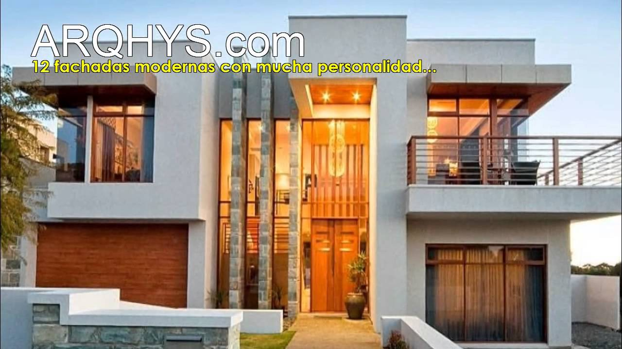 Fachadas personalidad y estilo moderno youtube for Diseno para casas de 2 pisos