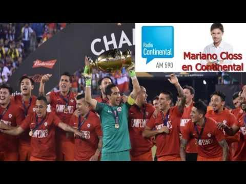 Closs caliente con Martino - Post partido Chile Campeón Copa Centenario 2016