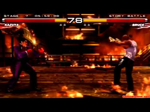 Tekken 5 - Story Battle - Kazuya Playthrough video