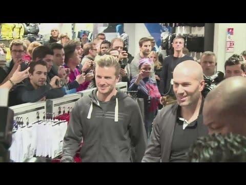Beckham and Zidane send Paris wild