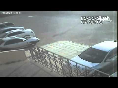 image vidéo فيديو يصور حادثة انفجار ناقلة الغاز في الرياض
