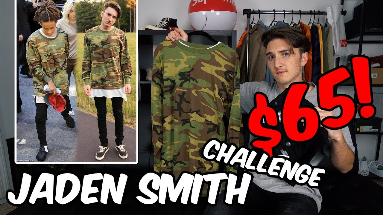 $65 DRESS LIKE JADEN SMITH CHALLENGE (SUMMER FIT!)