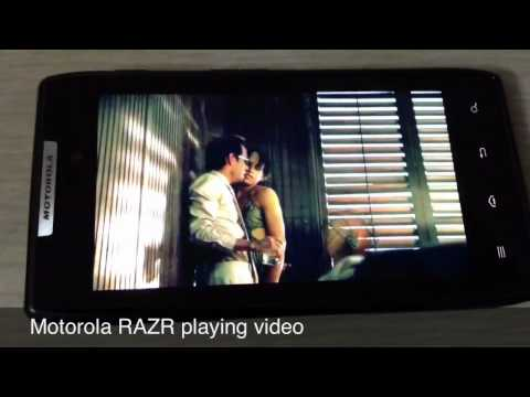 Motorola RAZR Video playback
