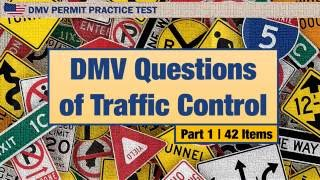 Driving license test: DMV Questions of Traffic Control Part 1