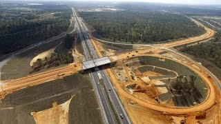 12/17/16 - Minneola Interchange Construction Progress on Florida