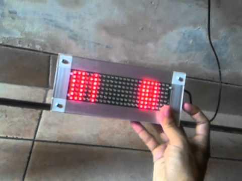 Moving sign LED RGB / Running text LED RGB / Tulisan berjalan LED RGB