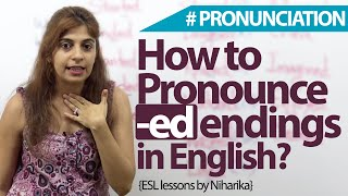 How To Pronounce -ed Endings In English?