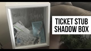 Ticket Stub Shadow Box | How to Make | Quick Project