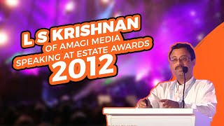 L S Krishnan of Amagi Media speaking at