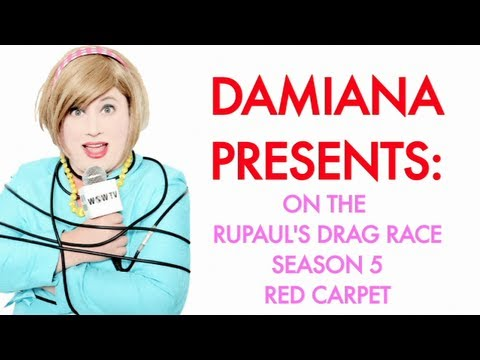 Damiana Garcia on the RuPaul's Drag Race Season Five Finale Red Carpet