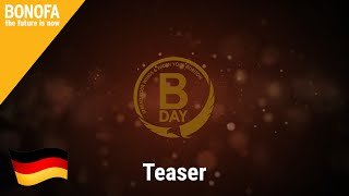 Teaser BONOFA DAY 25.07.15 - Deutsch