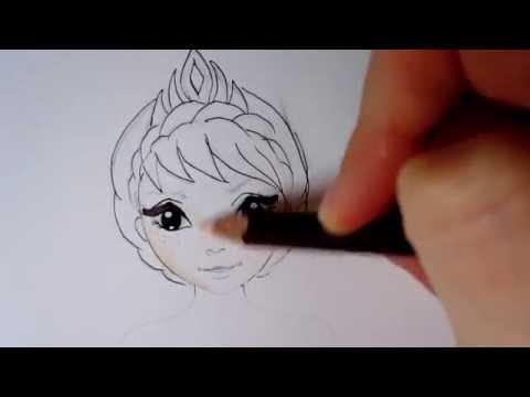 TopModel.biz How to Draw Elsa from Frozen - YouTube