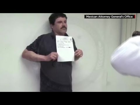 New video shows 'El Chapo' being booked