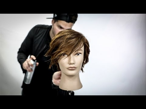Short Womens Haircut Tutorial   Pixie Haircut   MATT BECK VLOG 105