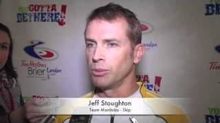 2011 Tim Hortons Brier - Draw 15 Media Scrum