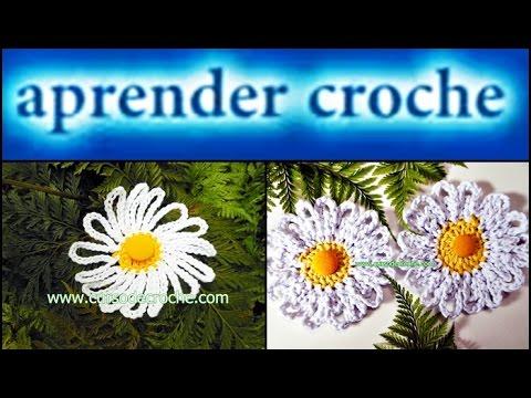 CROCHÊ FLORES 081 MARGARIDA PREGUIÇOSA 2