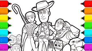 Toy Story 4 Coloring Page Drawing and Coloring for Kids