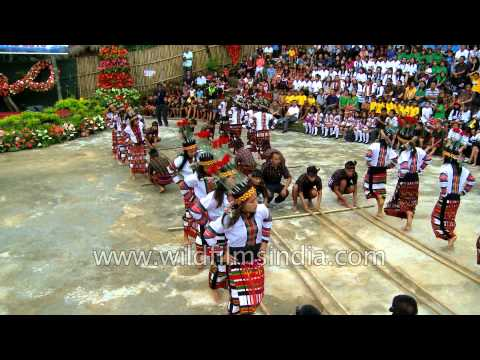 Bamboo dance performed during Anthurium Festival