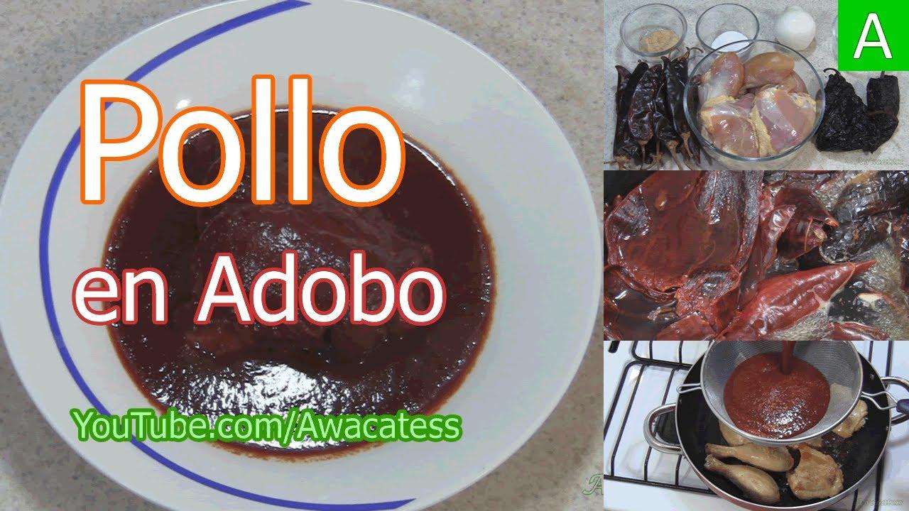 Pollo en Adobo Receta Mexicana Pollo en Adobo Receta de
