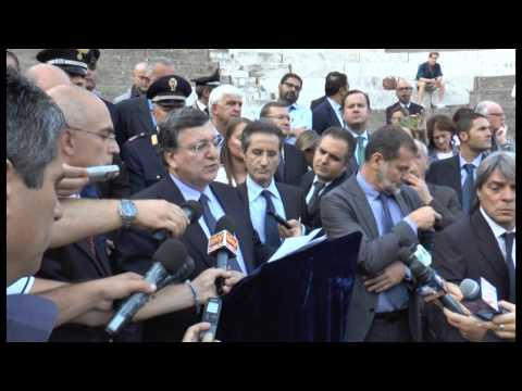 Pompei (NA) - Jose' Manuel Barroso visita gli scavi -live- (10.10.2014)
