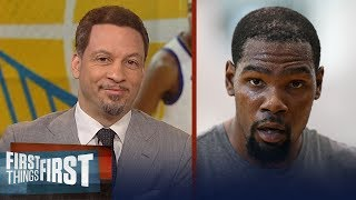 Chris Broussard on KD firing back to First Things First Fan on Twitter | NBA | FIRST THINGS FIRST
