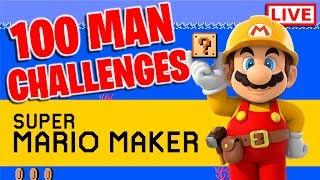 100 Man Challenges/Viewer Levels | Super Mario Maker