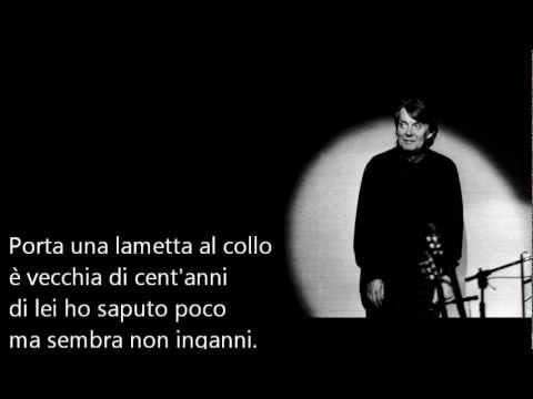 Fabrizio De André - Rimini (testo su schermo)