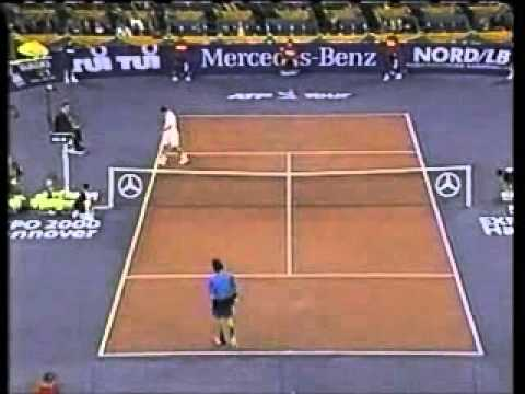 Pete Sampras great shots selection against Carlos Moya (Masters 1998 RR)
