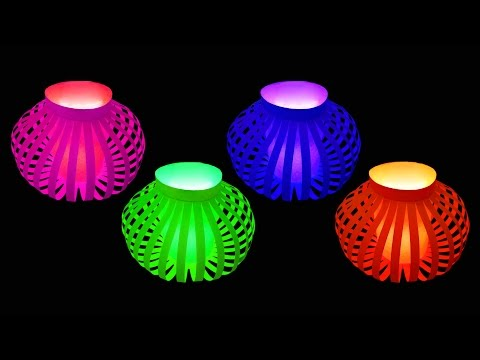 How to Make Fancy Paper Lantern Ball (Christmas Crafts) : HD thumbnail