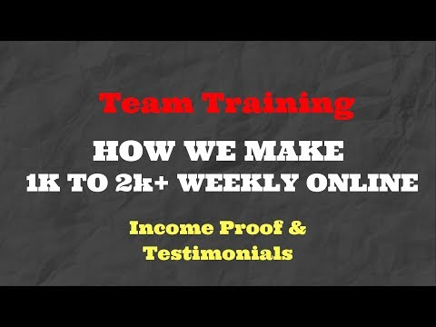 Simple Way To Make Money Online - Step By Step Training- Residual Income