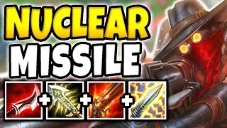 NUCLEAR MISSILE JHIN MID! 100% INSTANT ONE-SHOT CARRIES WITH CRITS (BUSTED) - League of Legends